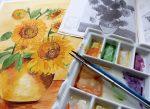 塗りかけネイルのやり方☆初心者セルフで簡単可愛い!芸術の秋は絵画で